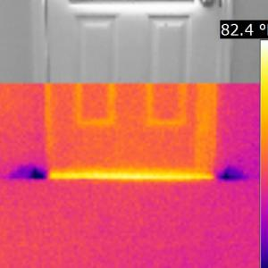 Houston Home Inspection Infrared Thermal Image Water Intrusion-4 (IR)
