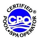 CPO Logo Certified Pool Operator Logo NPSF Certified Logo Home Inspection House Inspector